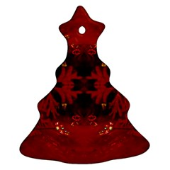 Red Abstract Ornament (christmas Tree)