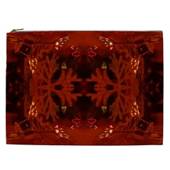 Red Abstract Cosmetic Bag (xxl)