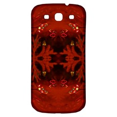 Red Abstract Samsung Galaxy S3 S Iii Classic Hardshell Back Case