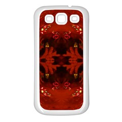 Red Abstract Samsung Galaxy S3 Back Case (white)