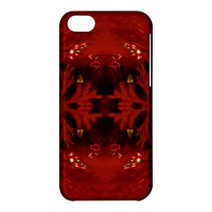 Red Abstract Apple Iphone 5c Hardshell Case