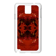 Red Abstract Samsung Galaxy Note 3 N9005 Case (white)