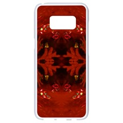 Red Abstract Samsung Galaxy S8 White Seamless Case