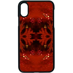 Red Abstract Apple Iphone X Seamless Case (black)