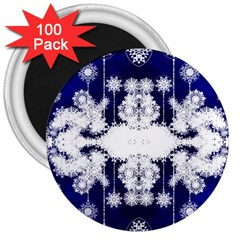 The Effect Of Light  Very Vivid Colours  Fragment Frame Pattern 3  Magnets (100 Pack)