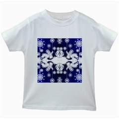 The Effect Of Light  Very Vivid Colours  Fragment Frame Pattern Kids White T Shirts