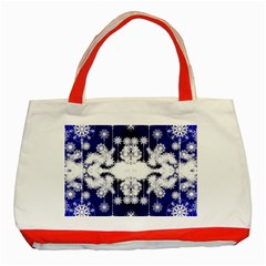 The Effect Of Light  Very Vivid Colours  Fragment Frame Pattern Classic Tote Bag (red)