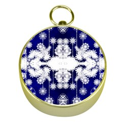 The Effect Of Light  Very Vivid Colours  Fragment Frame Pattern Gold Compasses