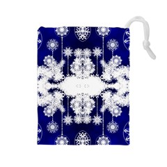 The Effect Of Light  Very Vivid Colours  Fragment Frame Pattern Drawstring Pouches (large)