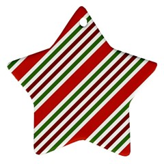 Christmas Color Stripes Ornament (star)