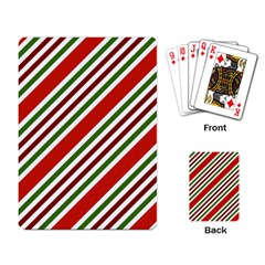 Christmas Color Stripes Playing Card