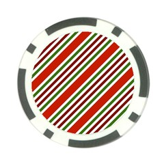 Christmas Color Stripes Poker Chip Card Guard