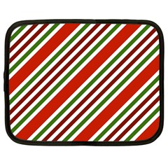 Christmas Color Stripes Netbook Case (large)