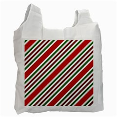 Christmas Color Stripes Recycle Bag (one Side)