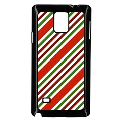Christmas Color Stripes Samsung Galaxy Note 4 Case (black)