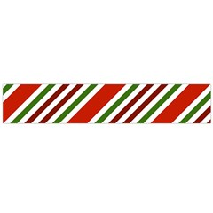Christmas Color Stripes Large Flano Scarf