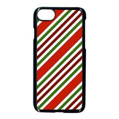 Christmas Color Stripes Apple Iphone 8 Seamless Case (black)