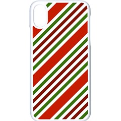 Christmas Color Stripes Apple Iphone X Seamless Case (white)