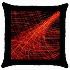 A Christmas Light Painting Throw Pillow Case (black)