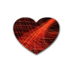 A Christmas Light Painting Heart Coaster (4 Pack)