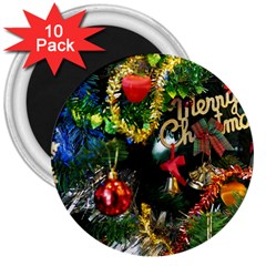 Decoration Christmas Celebration Gold 3  Magnets (10 Pack)