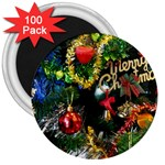 Decoration Christmas Celebration Gold 3  Magnets (100 pack) Front