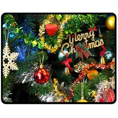 Decoration Christmas Celebration Gold Fleece Blanket (medium)