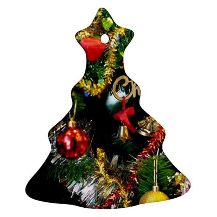 Decoration Christmas Celebration Gold Christmas Tree Ornament (Two Sides)
