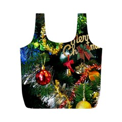 Decoration Christmas Celebration Gold Full Print Recycle Bags (m)