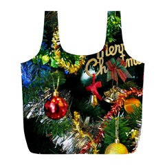 Decoration Christmas Celebration Gold Full Print Recycle Bags (l)