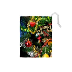 Decoration Christmas Celebration Gold Drawstring Pouches (small)