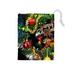 Decoration Christmas Celebration Gold Drawstring Pouches (medium)