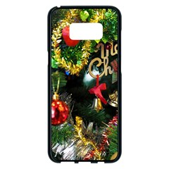 Decoration Christmas Celebration Gold Samsung Galaxy S8 Plus Black Seamless Case