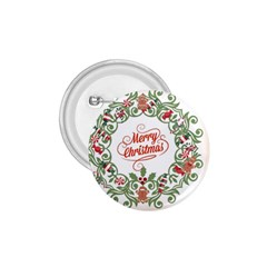 Merry Christmas Wreath 1 75  Buttons