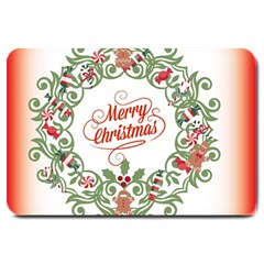 Merry Christmas Wreath Large Doormat