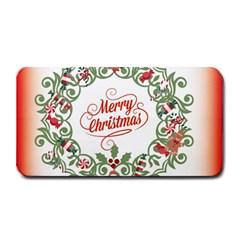 Merry Christmas Wreath Medium Bar Mats