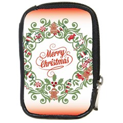 Merry Christmas Wreath Compact Camera Cases