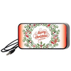 Merry Christmas Wreath Portable Speaker