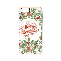 Merry Christmas Wreath Apple Iphone 5 Classic Hardshell Case (pc+silicone)
