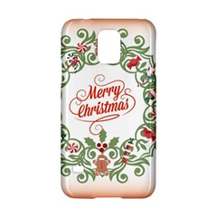 Merry Christmas Wreath Samsung Galaxy S5 Hardshell Case