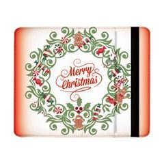 Merry Christmas Wreath Samsung Galaxy Tab Pro 8 4  Flip Case