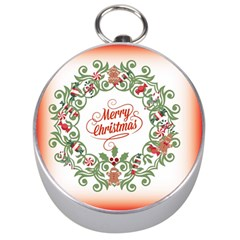Merry Christmas Wreath Silver Compasses