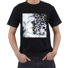 Earth Right Now Men s T Shirt (black) (two Sided)