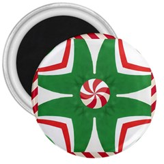 Candy Cane Kaleidoscope 3  Magnets