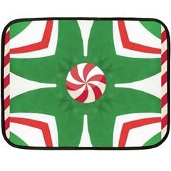 Candy Cane Kaleidoscope Fleece Blanket (mini)