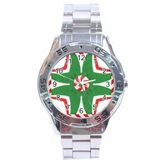 Candy Cane Kaleidoscope Stainless Steel Analogue Watch