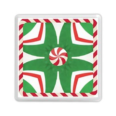 Candy Cane Kaleidoscope Memory Card Reader (square)