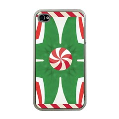 Candy Cane Kaleidoscope Apple Iphone 4 Case (clear)