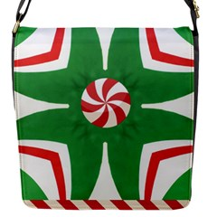 Candy Cane Kaleidoscope Flap Messenger Bag (s)