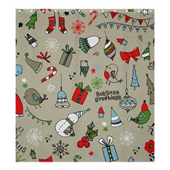 Beautiful Design Christmas Seamless Pattern Shower Curtain 66  X 72  (large)